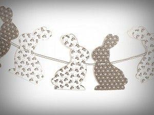 bunny garland - bunny pattern here - http://www.pinterest.com/pin/464644886527496271/