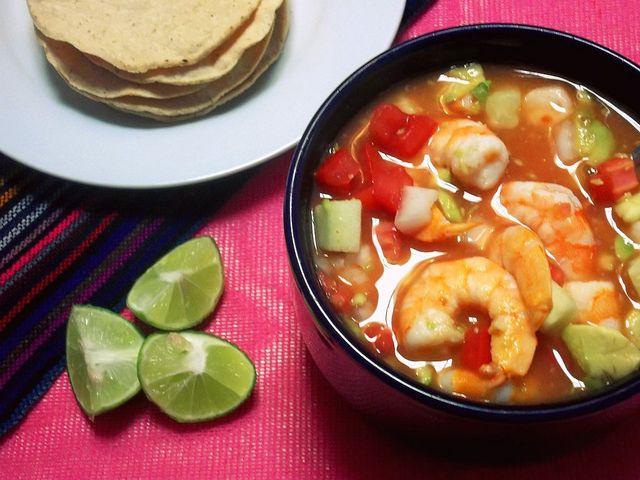 Coctel de Camarones (Mexican Shrimp Cocktail) from @Leslie Harris de Limon