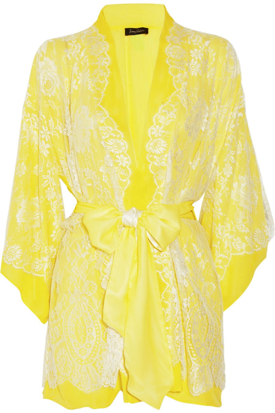 Lingerie robe yellow