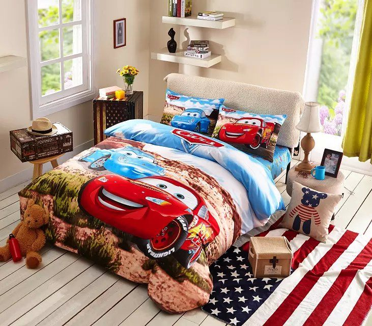 Cute Disney Cars Bedding Set Boys Sports Bedding Stuff To Buy - Boys sports bedding sets twin