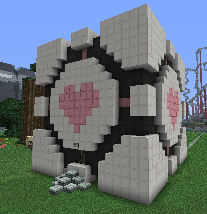 House Ideas Guide For Minecraft: Minecraft:Companion Cube House By KAWAII-PANDA-SAN