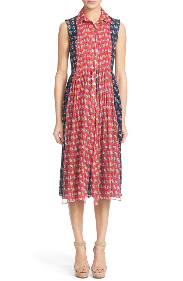 Diane von Furstenberg Diane von Furstenberg 'Nieves' Floral Print Silk Shirtdress available at #Nordstrom
