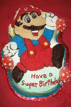 Peachy How To Make A Super Mario Birthday Cake Mario Birthday Cake Personalised Birthday Cards Cominlily Jamesorg