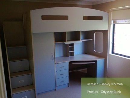 Harvey Norman Odyssey Space Saver Loft Bed Beds Gumtree