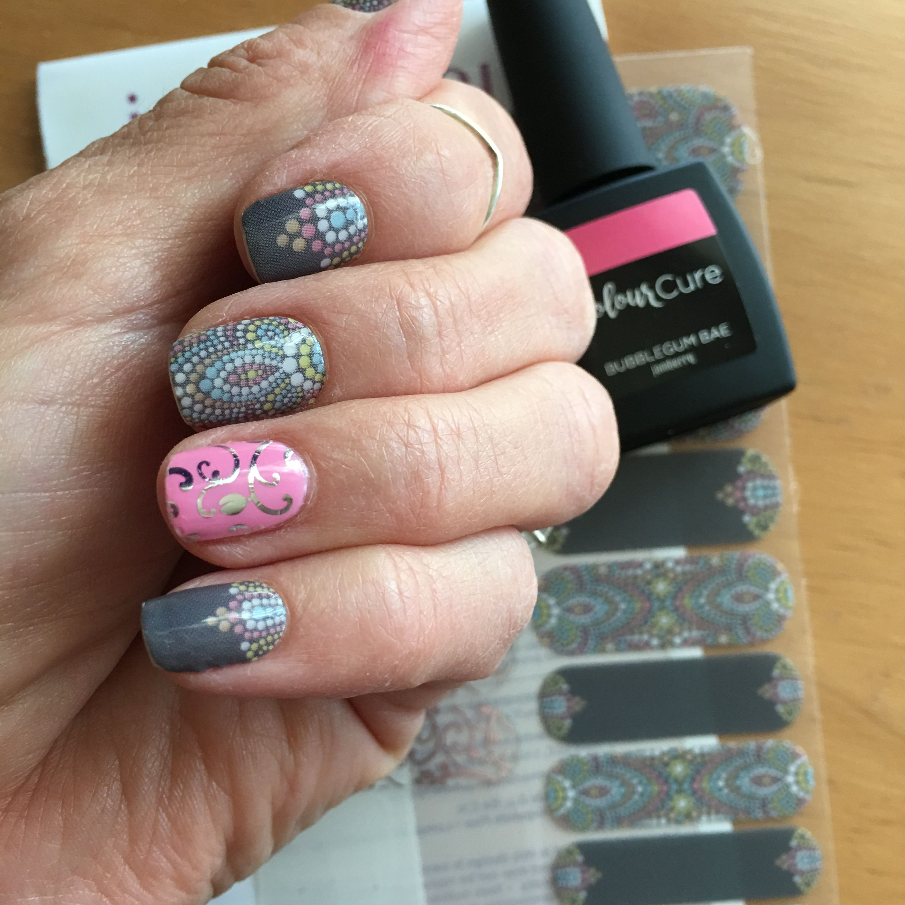 Jamberry Nail Art studio wrap by Crystal Michele called Bollywood ...