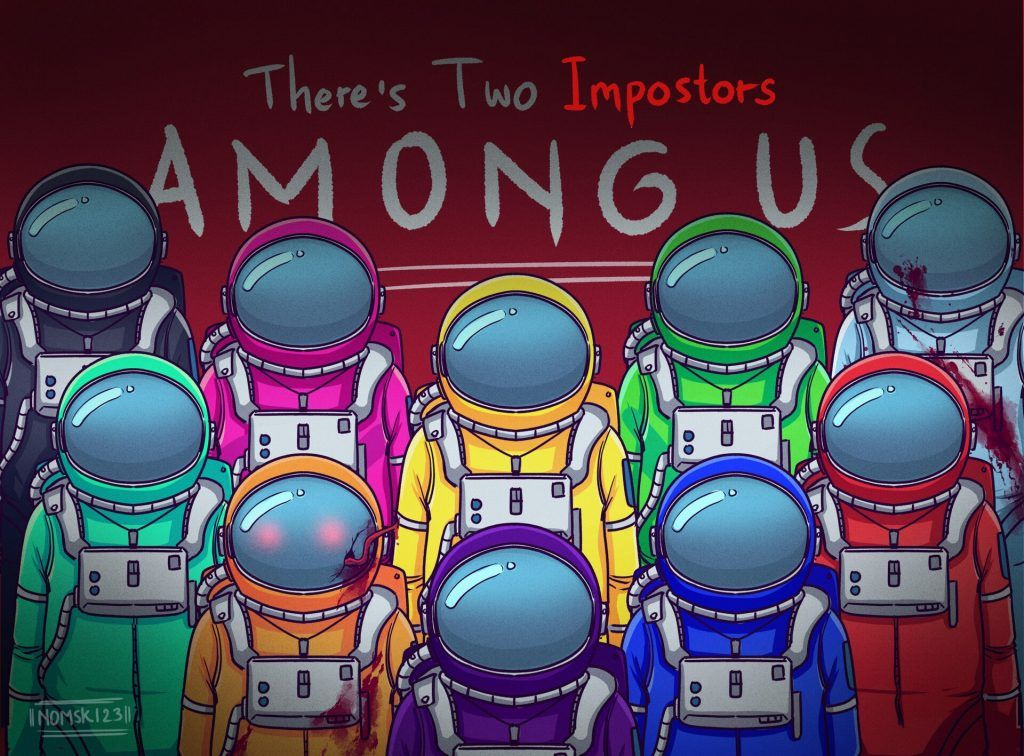 About The Among Us Online Game Among Us Impostor Themes Hd Gaming Wallpapers Cartoon Wallpaper Wallpaper