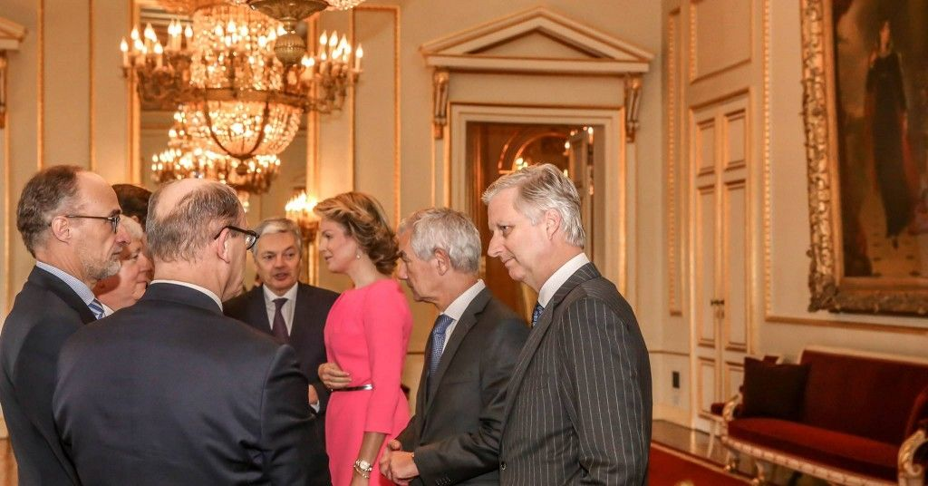 King Philippe & Queen Mathilde hosted a reception for the heads of the Belgian diplomatic staff in Brussels