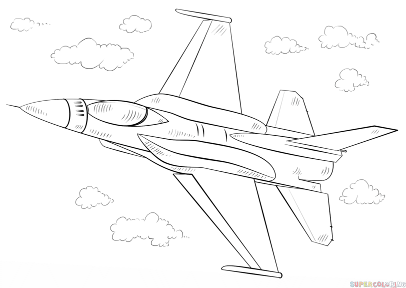 How To Draw A Fighter Jet Step By Step Drawing Tutorials Kids