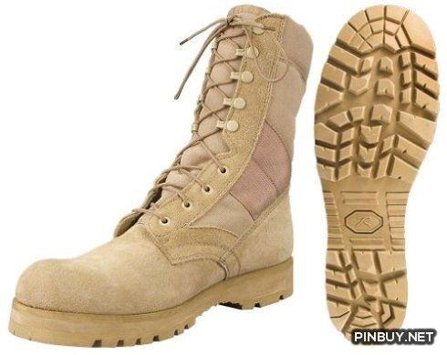 Desert Tan -Sierra Lug Sole Military Desert Boots (Leather) 8f8de194a23