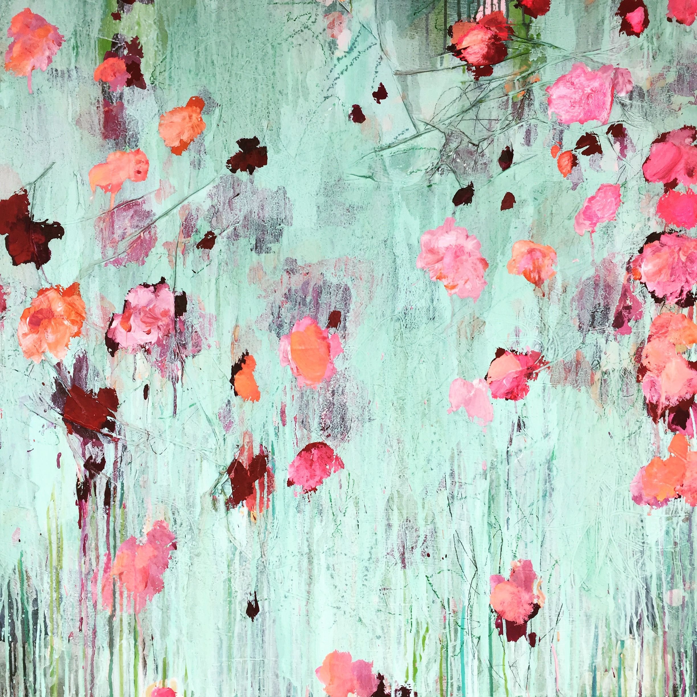 ...abstract art by sonja blaess...petit jardin...2016..