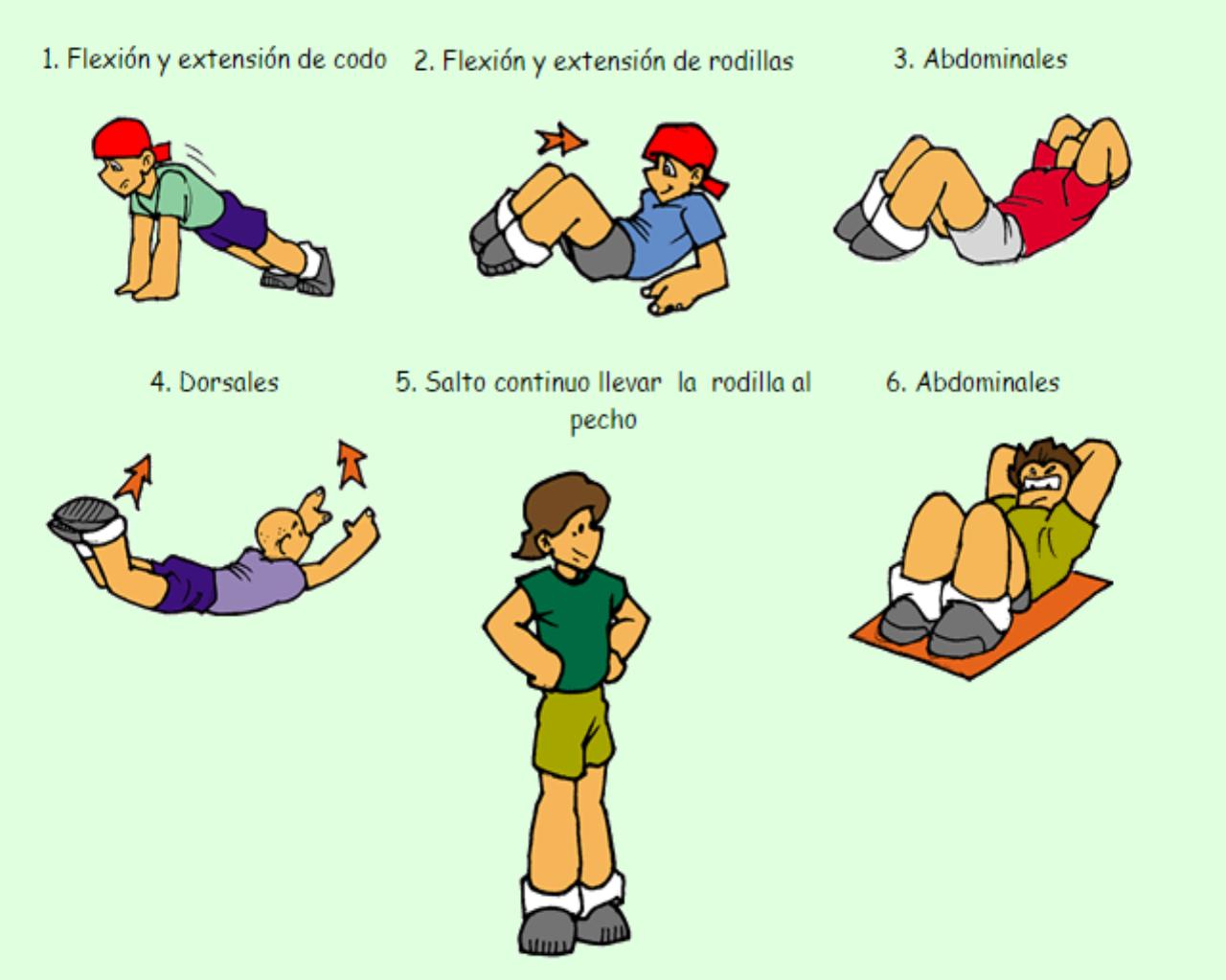 Educacion Fisica Circuito Funcional Con 6 Estaciones