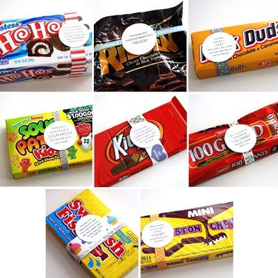 Get Well Soon notes for corresponding candy for a cute pick me up