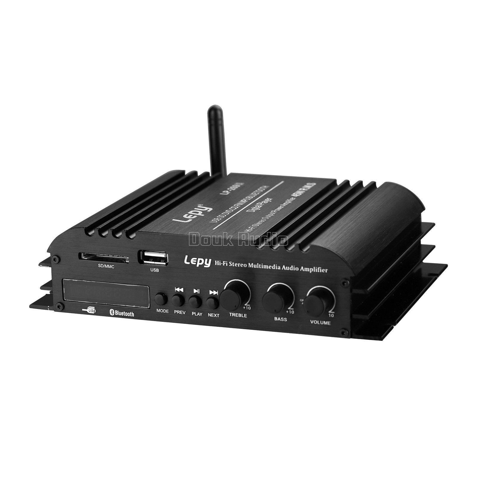 Nobsound Lepy Hifi Stereo Multimedia 4channel 45w4 Bluetooth Power Audio Booster Amplifier Amp Usb Sd Dvd