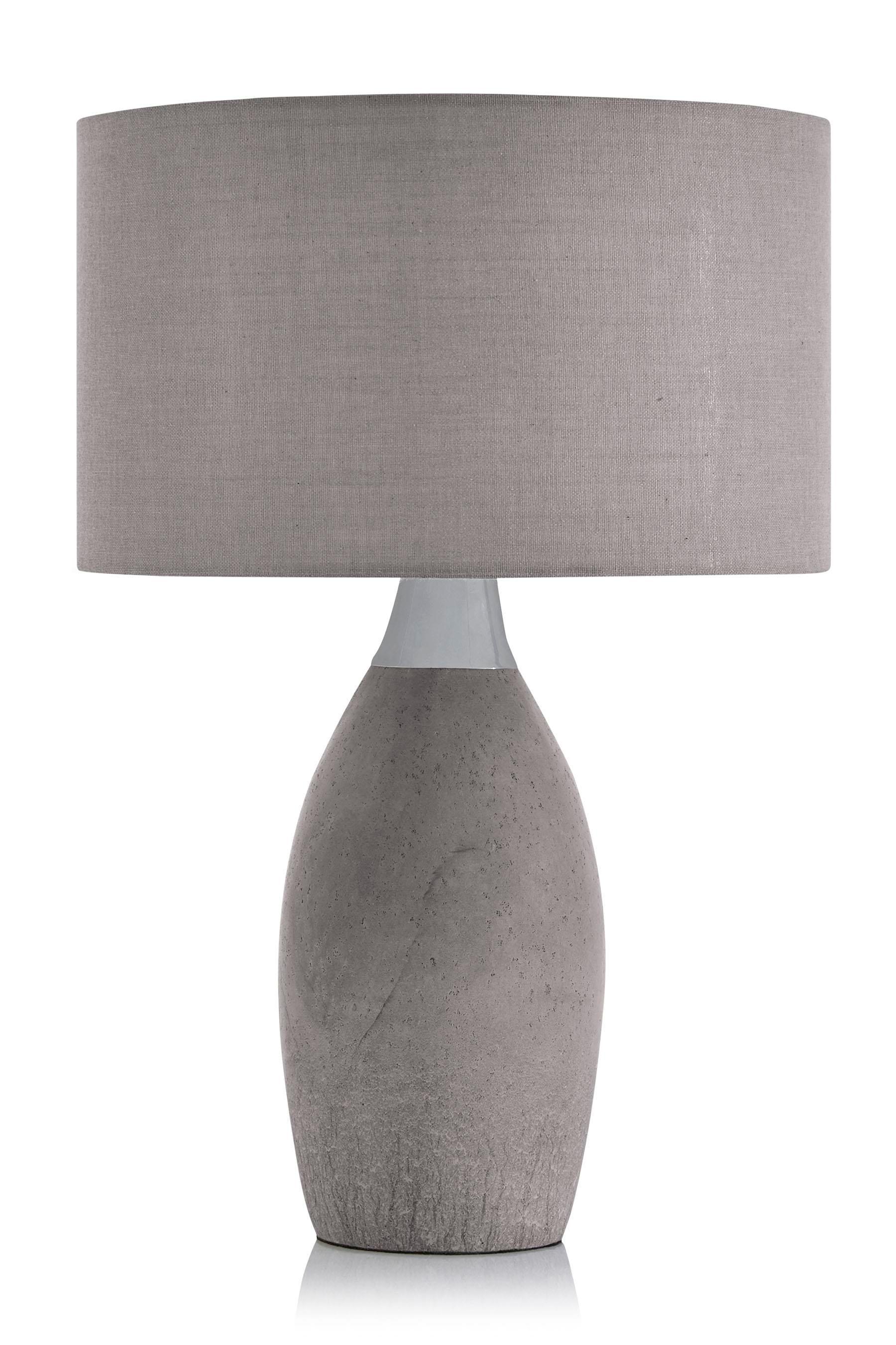 Buy concrete and chrome table lamp from the next uk online shop buy concrete and chrome table lamp from the next uk online shop aloadofball Image collections
