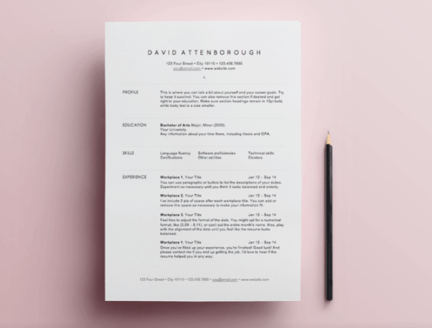 Free Resume Templates  Template And Free