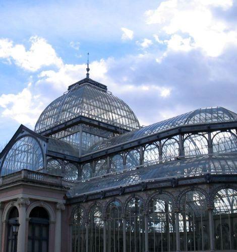 Madrid, Retiro park, Crystal Palace/architecture Crystal
