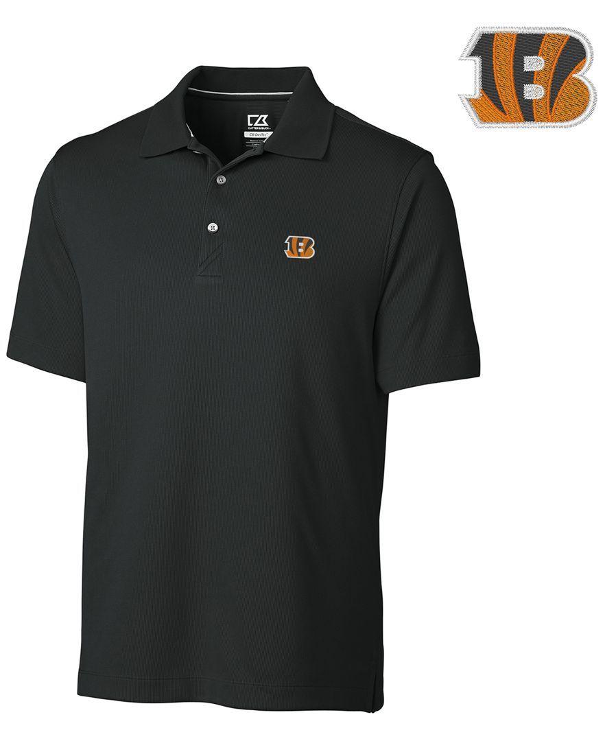 Cutter & Buck Men's Cincinnati Bengals DryTec Glendale Polo Shirt