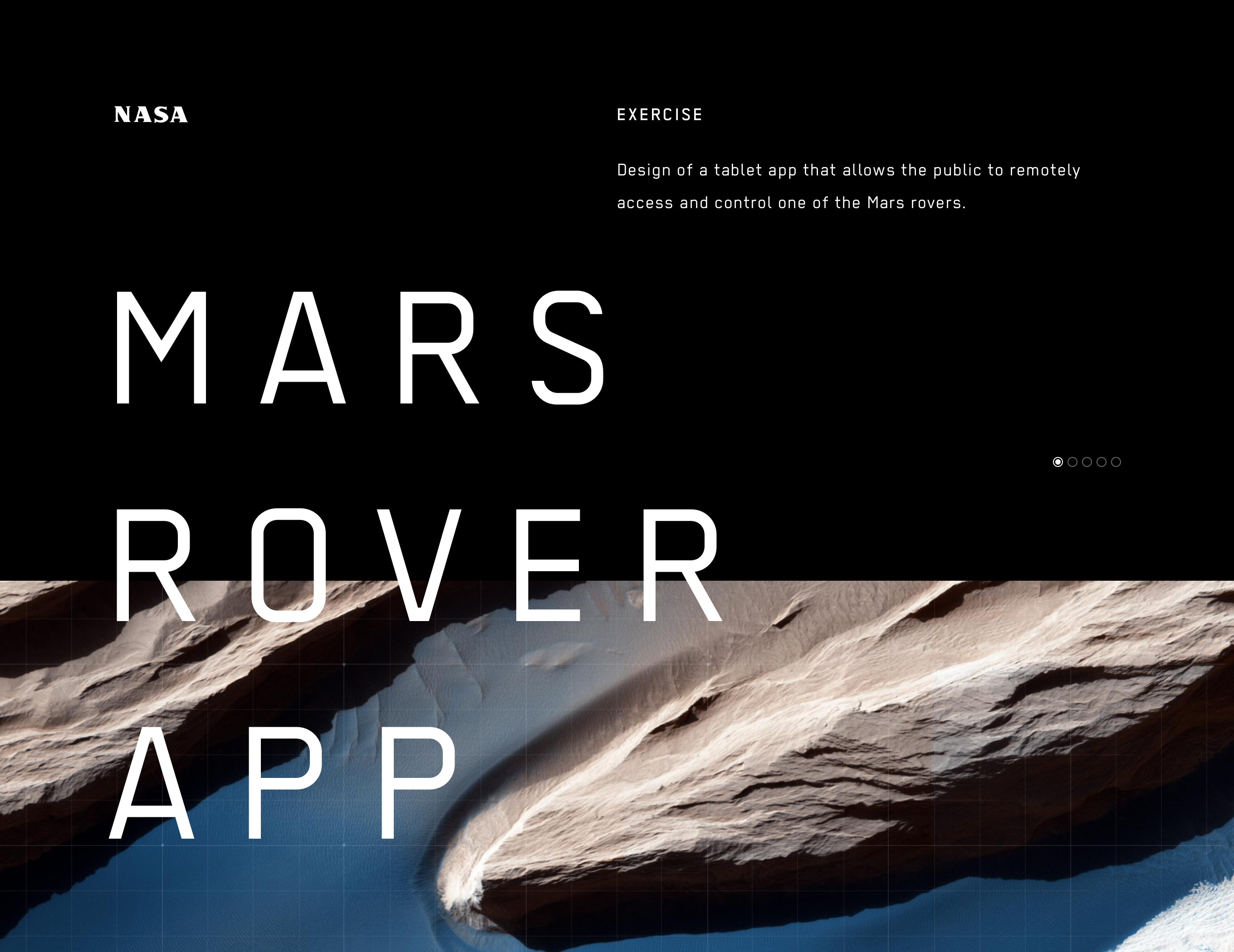 """Check out this Behance project """"Mars Rover App for NASA"""