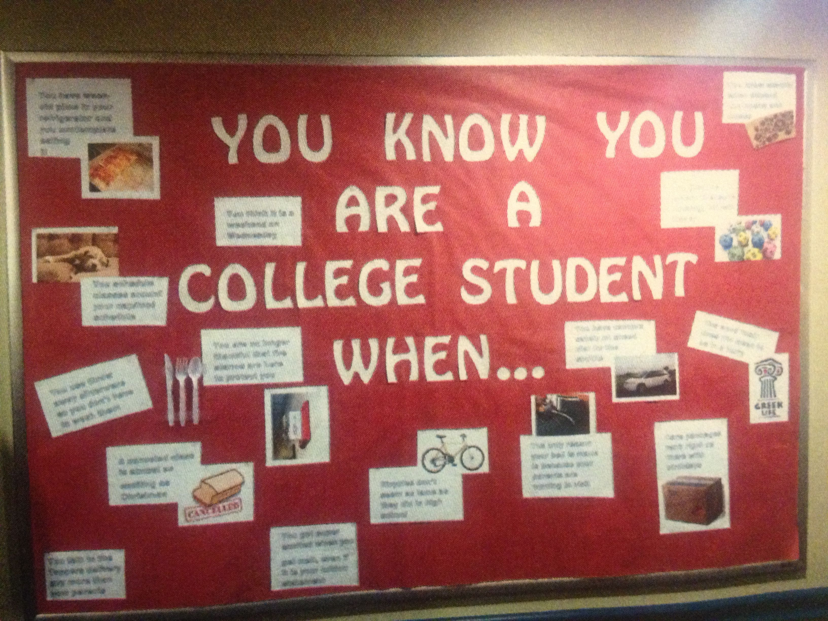 College Student Bulletin Board Ra Ideas Pinterest College
