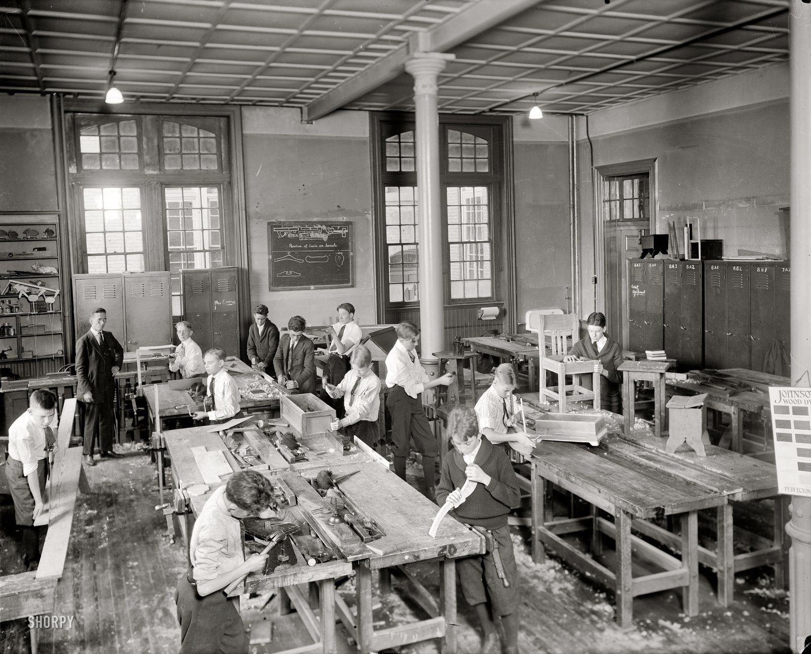 Tywkiwdbi Tai Wiki Widbee Junior High Shop Class 1921 Old