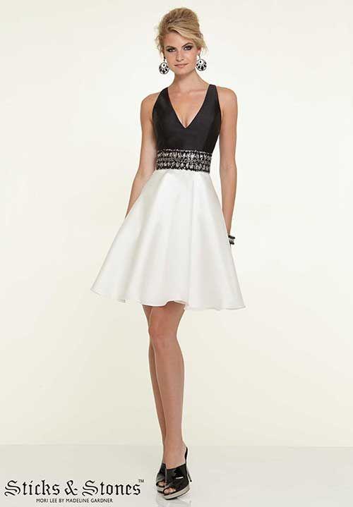90af435a68 vestidos fiesta corto blanco