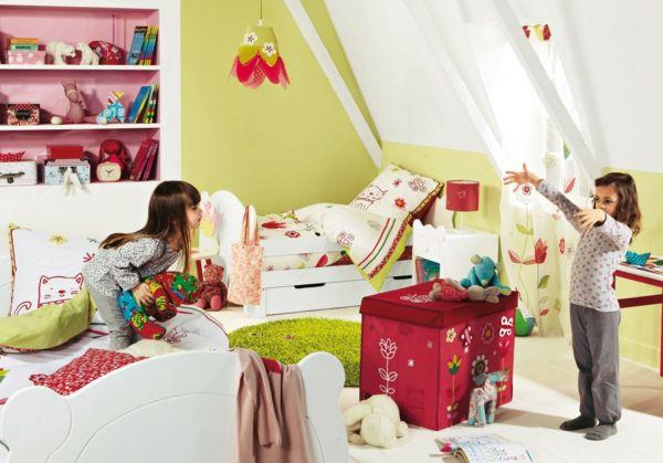 idee kinderzimmer gestaltung zwei mädchen | Kinderzimmer ...