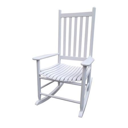 Sensational Mainstays Rocker White Outdoor Living Rocking Chair Creativecarmelina Interior Chair Design Creativecarmelinacom
