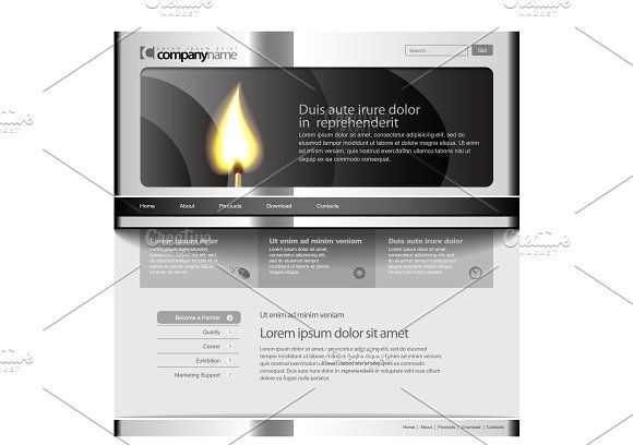 Gray Website Template by Sunny on @creativemarket | Хвастики ...