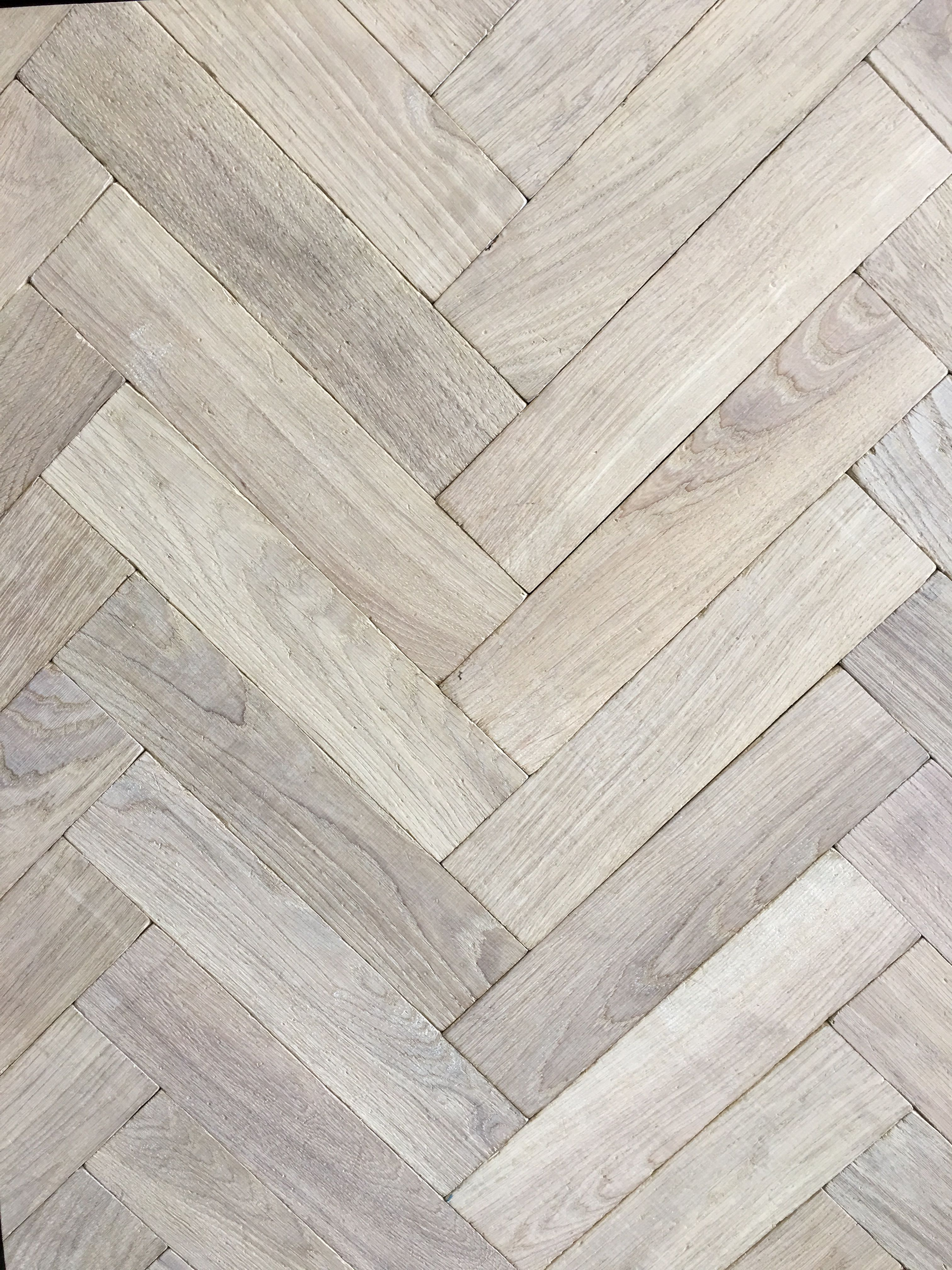 Traditional White Oak European Herringbone Panels Parquet