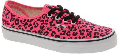 Vans Authentic Neon Pink Leopard
