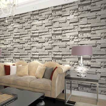 Luxury Stone Brick Wall 10m Vinyl Wallpaper Roll Papel De Parede 3d Living Room Background Wall Decor Stone Wallpaper 3d Stone Wallpaper
