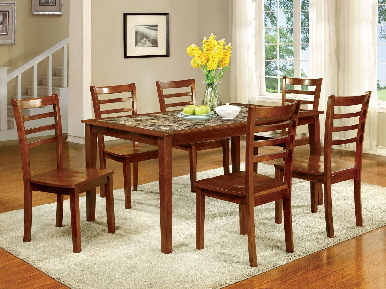 Dining Table Set Fordville I Collection Cm3521T-7Pk | Products ...