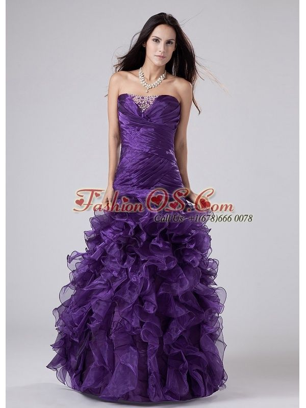 Awesome Trends Prom Dresses Fashionable Beading And Ruffles Organza ...
