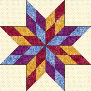 50 States- Missouri Free Star Quilt Block Pattern - this would ... : star quilt pattern - Adamdwight.com
