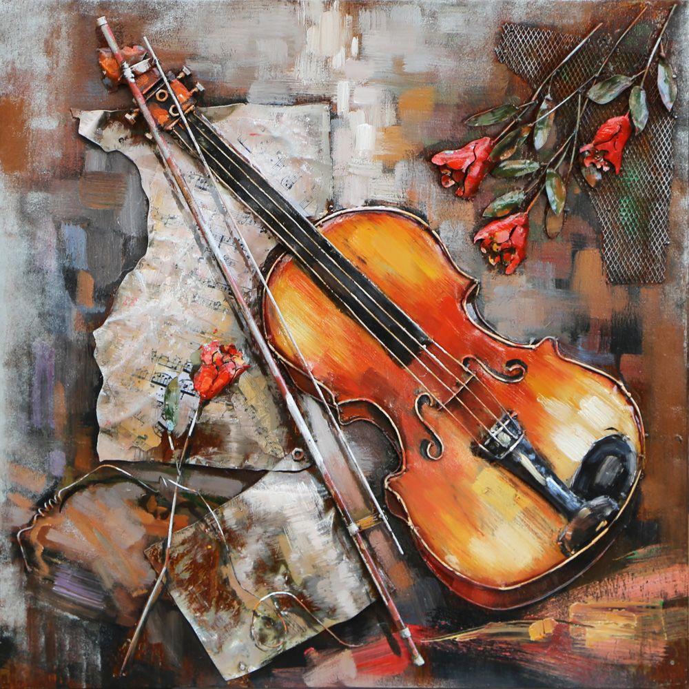 rose violon cadres concept