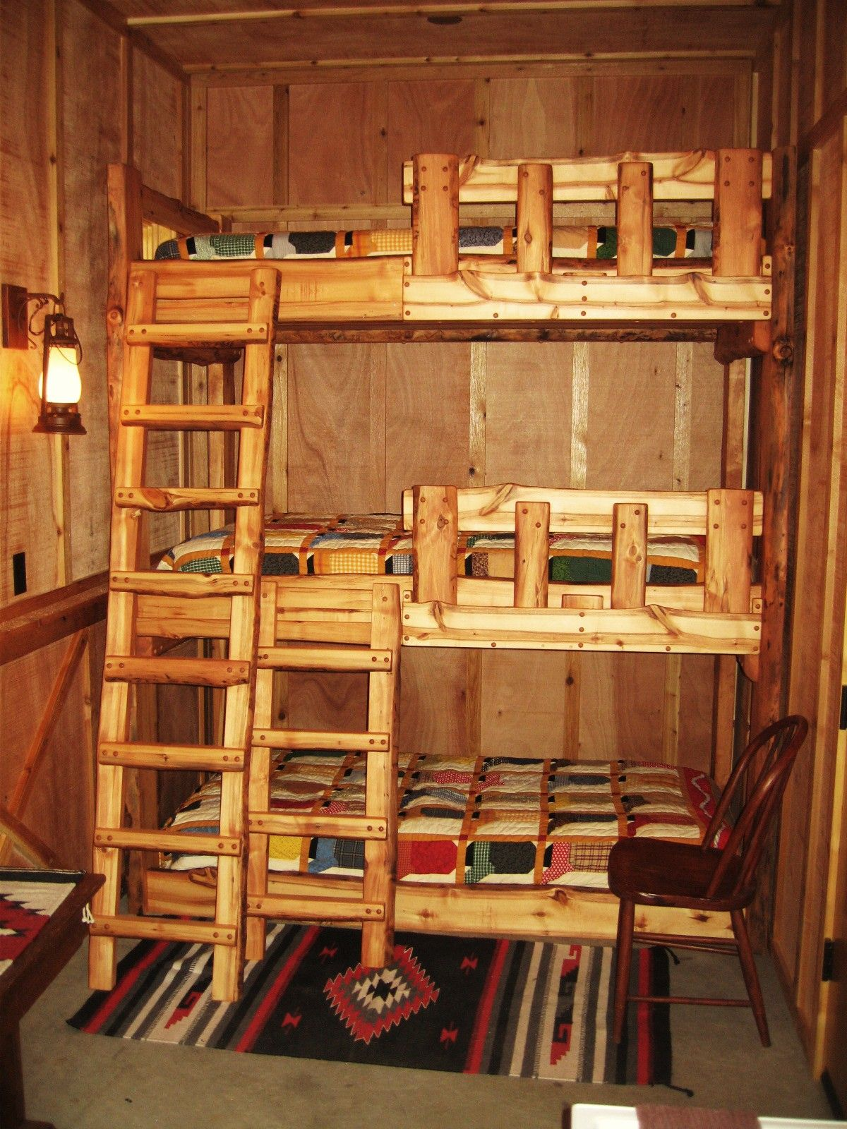Furniture Rustic Small Bedroom Decorating Ideas With Cool Designer Bunk Beds With Ladder And