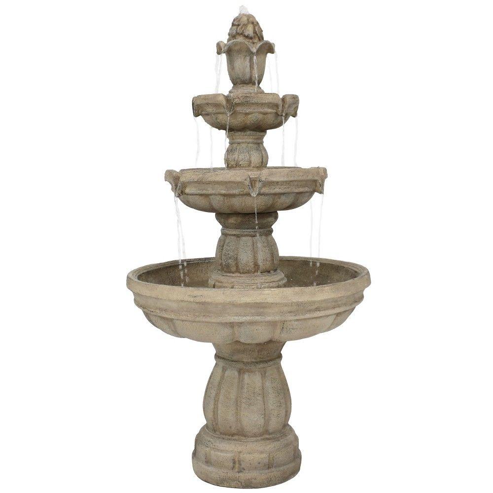 48 3 Tier Outdoor Water Fountain Sunnydaze Decor In 400 x 300