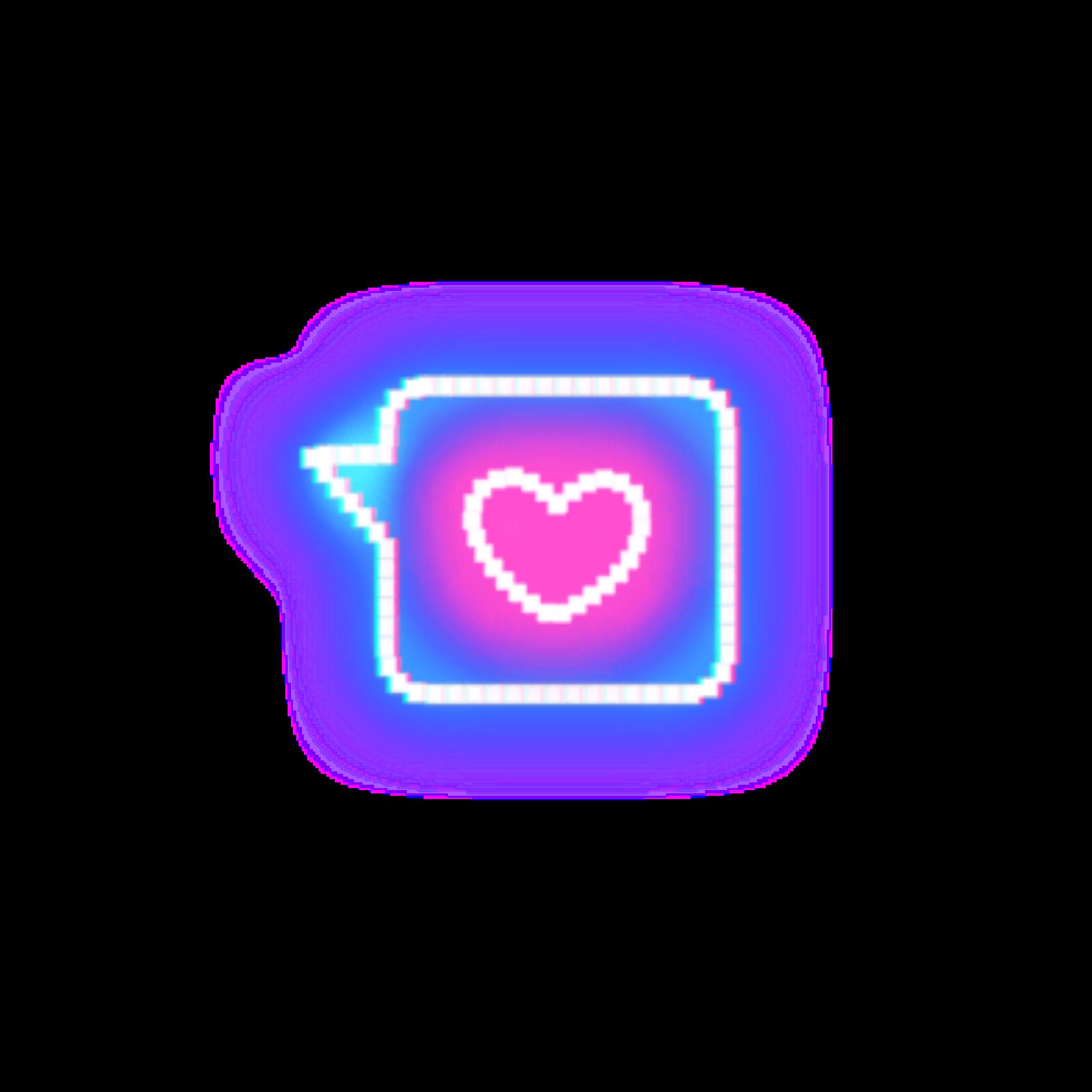 𝘩̅𝘦̅𝘢̅𝘳̅𝘵̅ mensaje in 2020 Cute emoji wallpaper, Neon