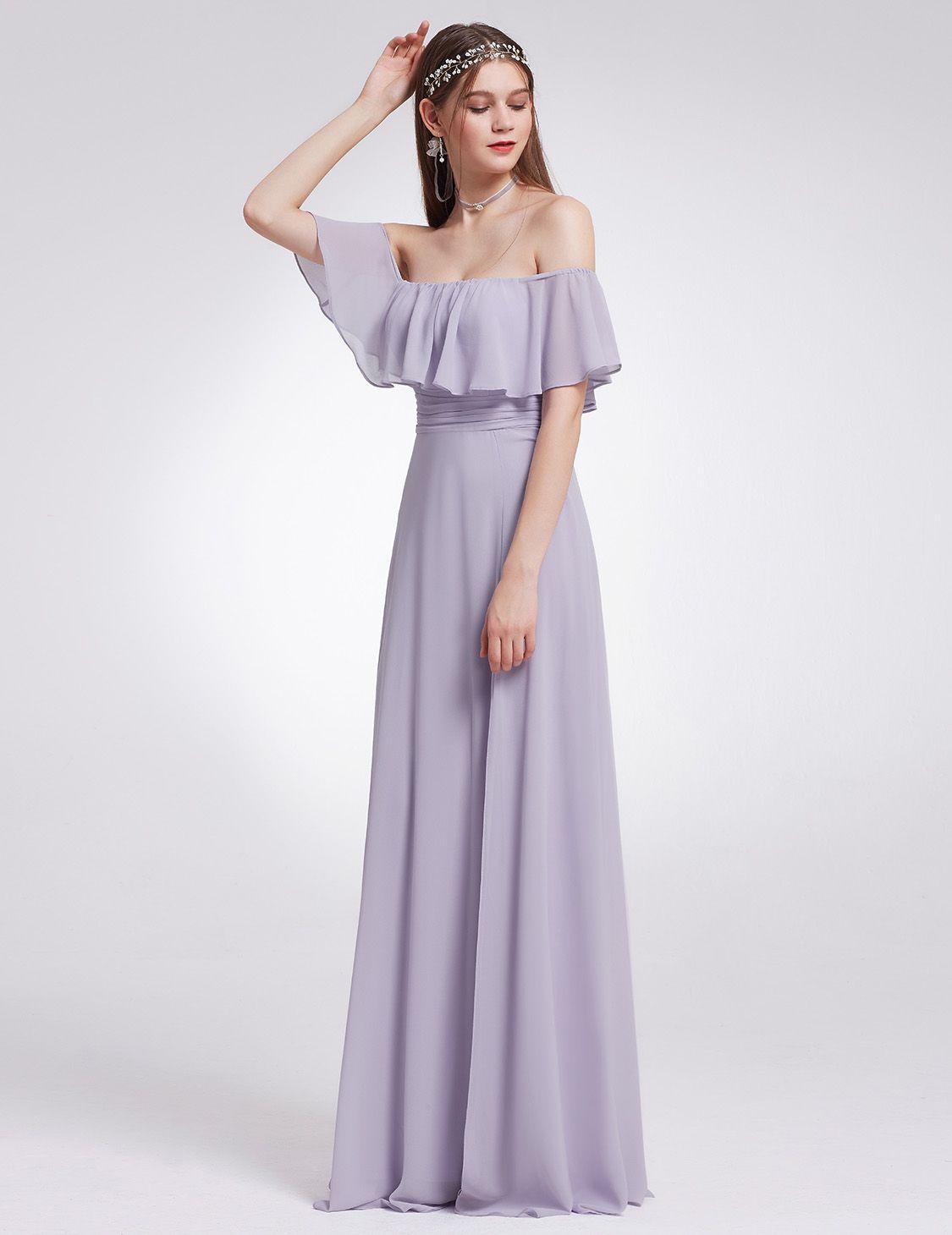 507c2ef172bd Ever-Pretty Long Bridesmaid Dresses Chiffon Off Shoulder Evening Ball Gown  07171#Dresses#Chiffon#Bridesmaid
