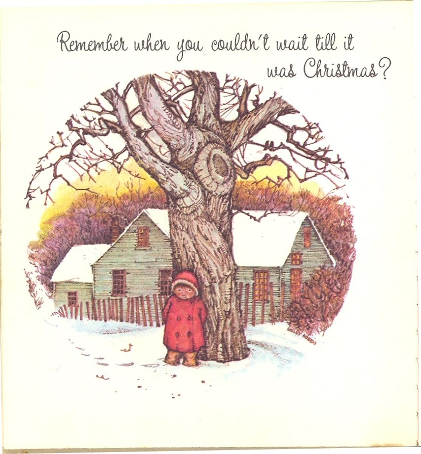Remember when you couldn't wait till it was Christmas? - written by Doris Faulhaber; illustrated by Holly Hobbie; published 1972; American Greetings Corporation