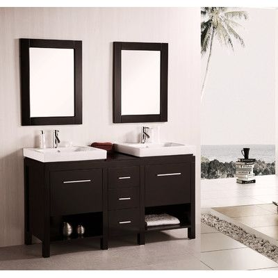 60 Double Bathroom Vanity Set With Mirror Vanity Design