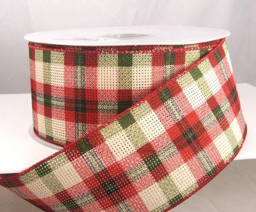 image result for plaid christmas ribbon - Plaid Christmas Ribbon
