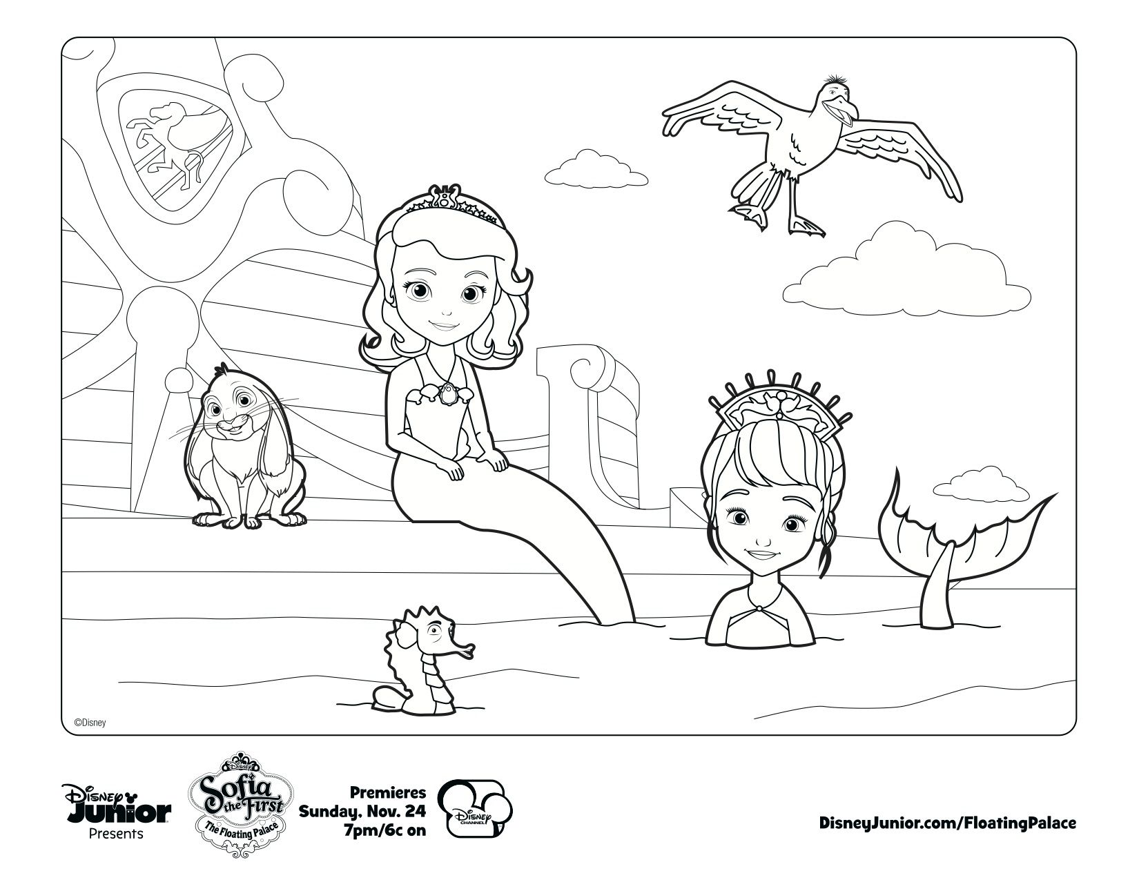 Ausmalbilder Prinzessinnen Disney : Sofia The Mermaid Print Out And Color Away For The Kiddies