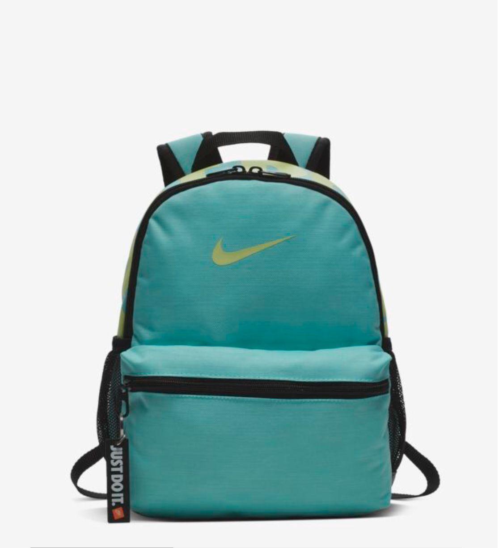 Lidiar con deletrear Percepción  Nike Brasilia 'Just Do It' Mini Backpack in Light Aqua/Black/Barely Volt |  Nike backpack, Backpacks, Mini backpack