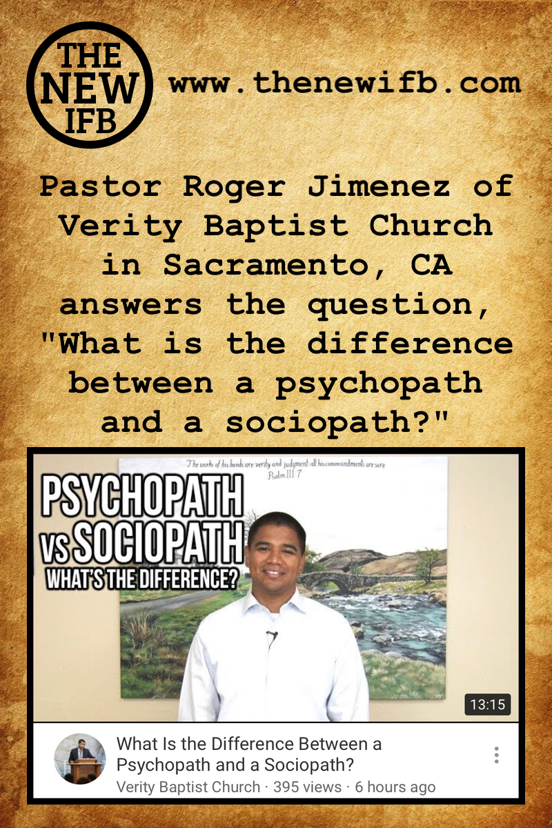 Pastor Roger Jimenez of Verity Baptist Church
