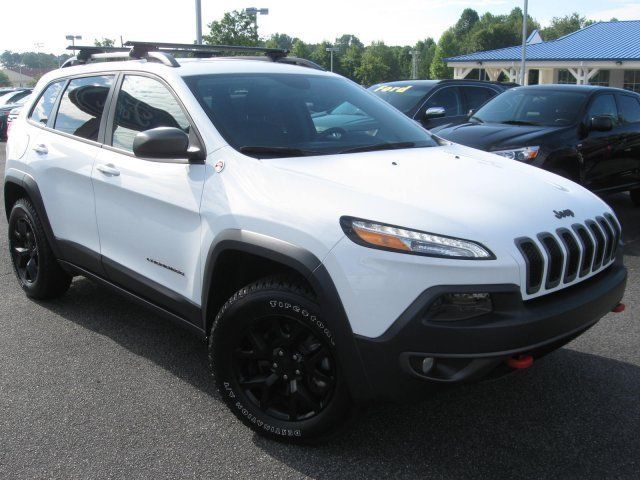 Ebay 2016 Jeep Cherokee Trailhawk 16544 Miles Bright White Clearcoat Sport Utility Re Jeeplife