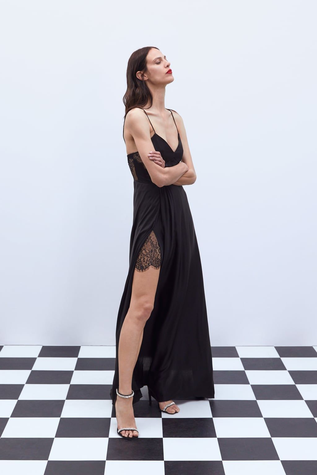 c0c96c65 LIMITED EDITION LONG LACE - TRIMMED DRESS-NEW IN-WOMAN | ZARA United Kingdom