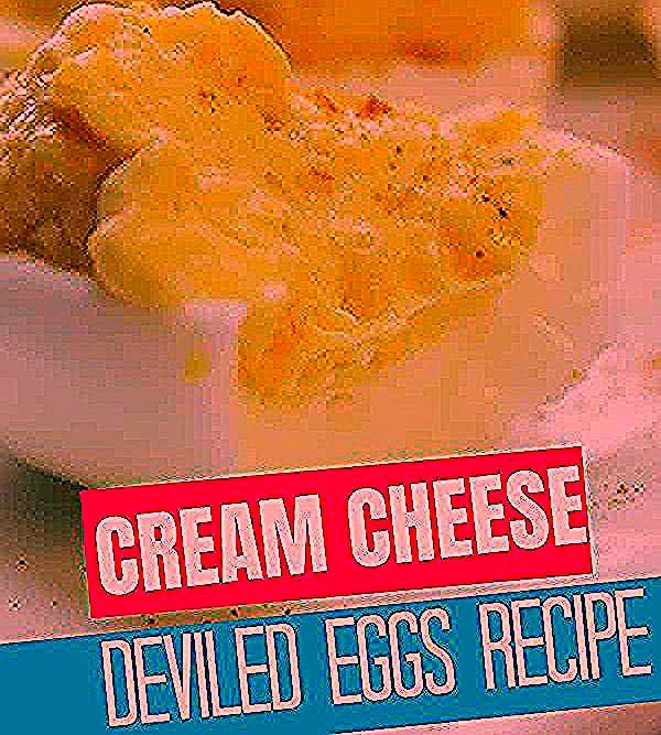 Serve up these best deviled eggs that have cream cheese for an extra velvety filling. #easy #recipe #best #cream cheese #howtomake #spicy #withvinegar #deviledeggs