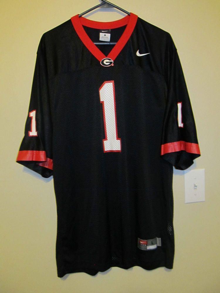 Georgia Bulldogs Black Football jersey - Nike Adult Large #Nike #GeorgiaBulldogs