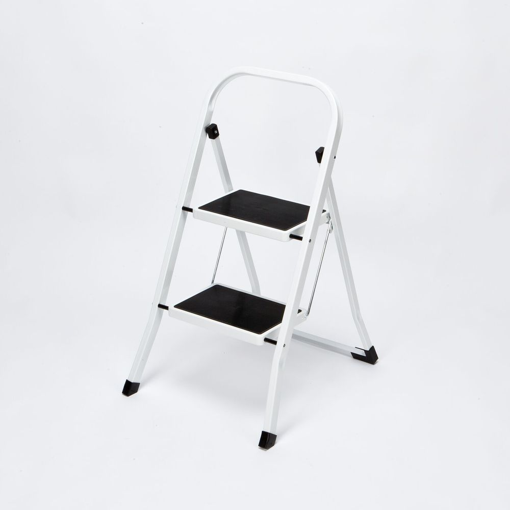 Folding Stepladder Foldable 2 Step Safety Ladder Non Slip